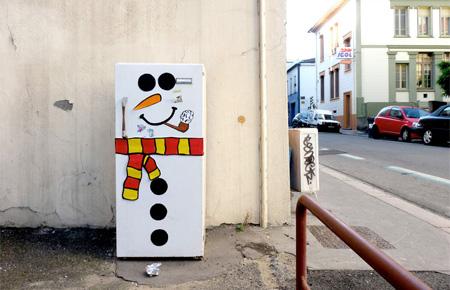 Snowman Street Art