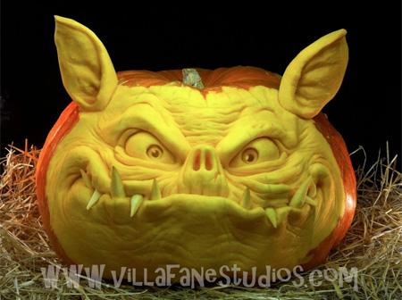 Bat Pig Pumpkin