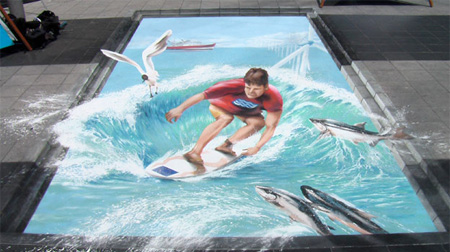 Surfing Street Art