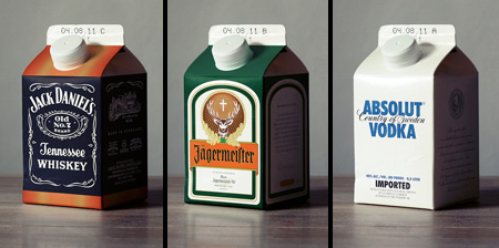 Alcohol in Milk Cartons