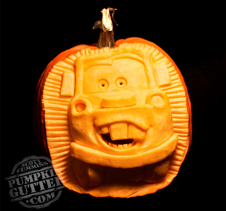 Cars Pumpkin