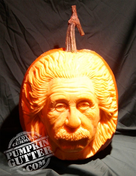 Albert Einstein Pumpkin