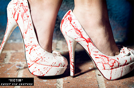 Blood Spatter Shoes