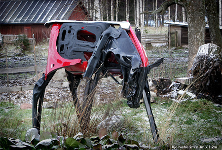 Cow Made from Car Parts