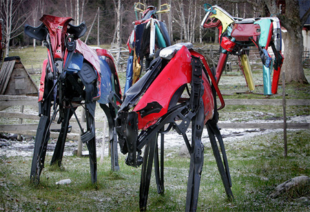 Cows Made from Car Parts