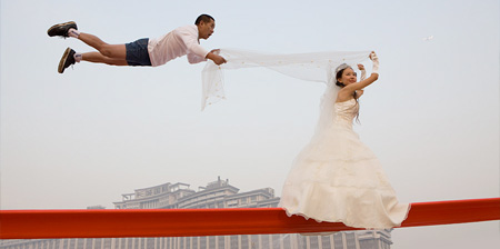 Gravity Defying Wedding