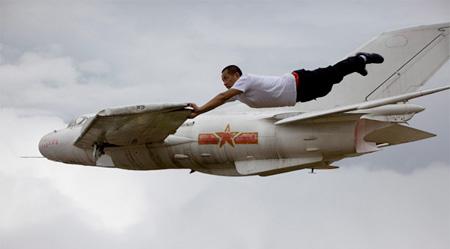 Li Wei on a Plane