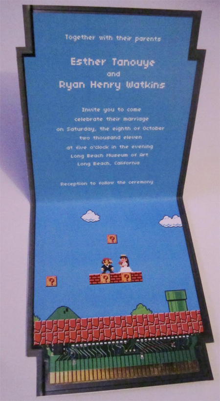 Mario Wedding Invitation