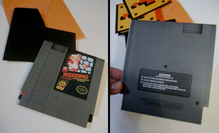 Mario Wedding Invitations