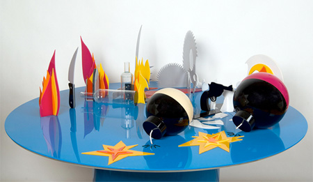 Tom and Jerry Perspective Sculpture