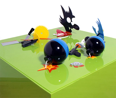 Itchy and Scratchy Perspective Sculpture