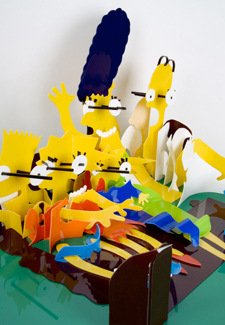 Simpsons Perspective Sculpture