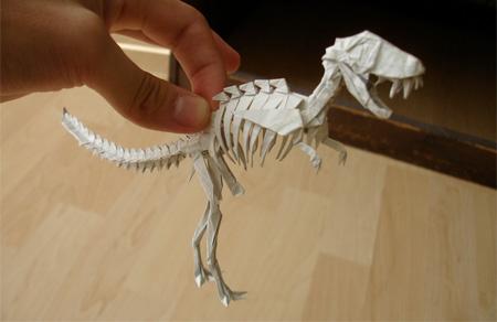 Tyrannosaurus Rex Skeleton Origami