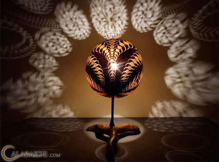 Carved Lamp