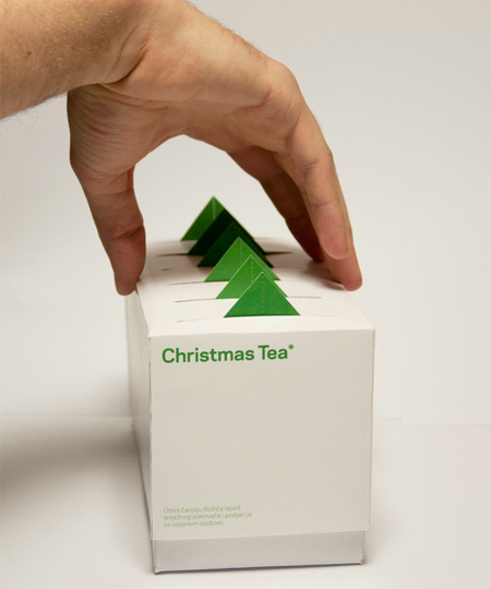 Christmas Tree Tea Packaging