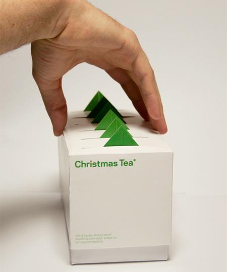 Christmas Tree Tea Packaging