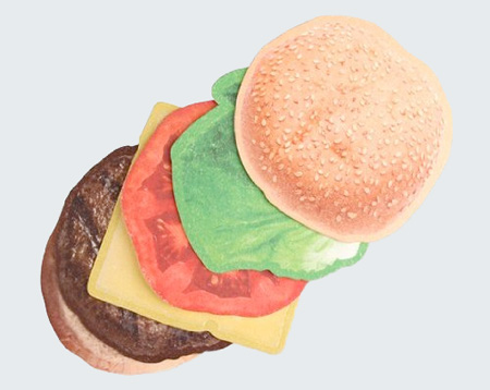 Cheeseburger Coasters