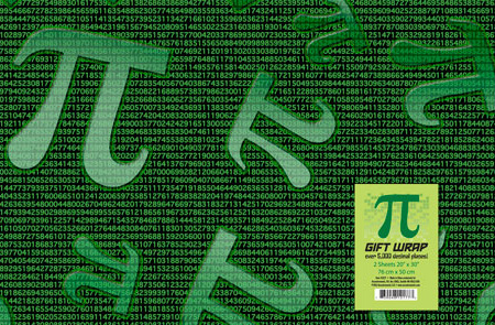 Pi Wrapping Paper