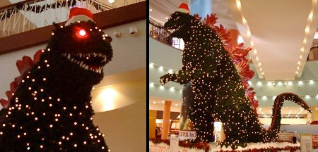 Godzilla Christmas Tree in Japan