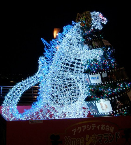 Godzilla Christmas Lights