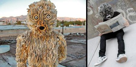 Newspaper Sculptures