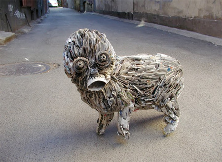 Newspaper Sculpture