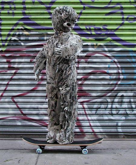 Newspaper Skateboarder