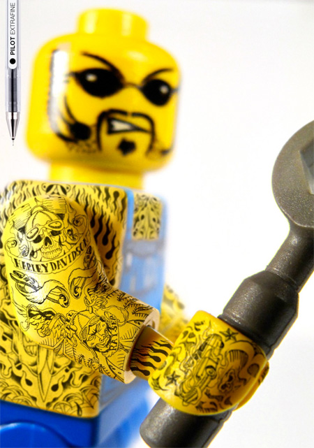 Tattooed LEGO