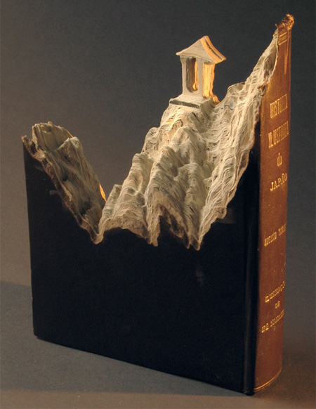 Landscapes Carved Into Books
