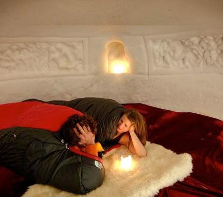 Snow Hotel Room