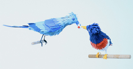 Birds made of Paper