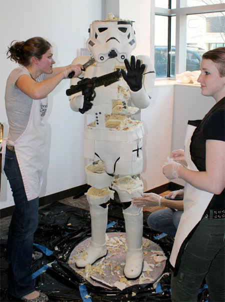Lifesize Stormtrooper Cake