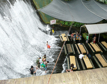 Waterfall Restaurant Villa Escudero