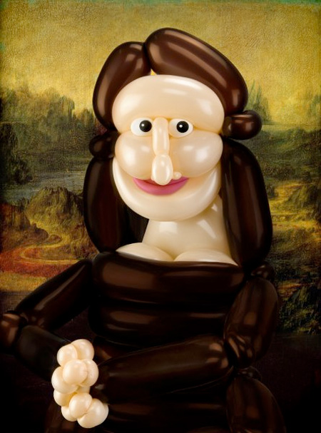 Balloon Mona Lisa