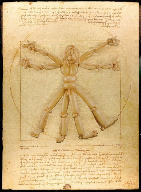 Balloon Vitruvian Man