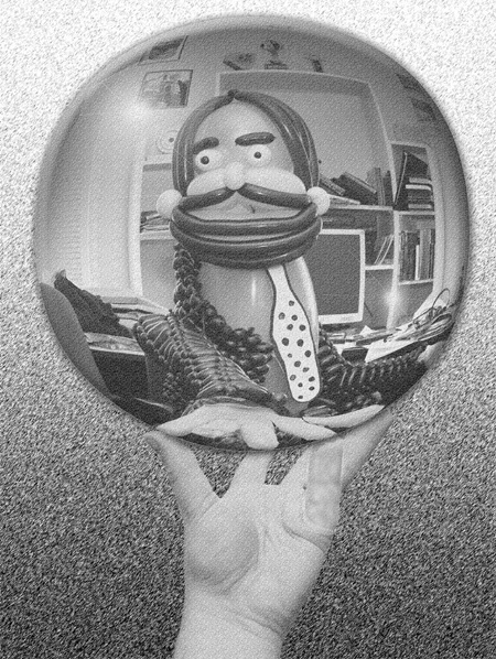 Balloon Hand with Reflecting Sphere