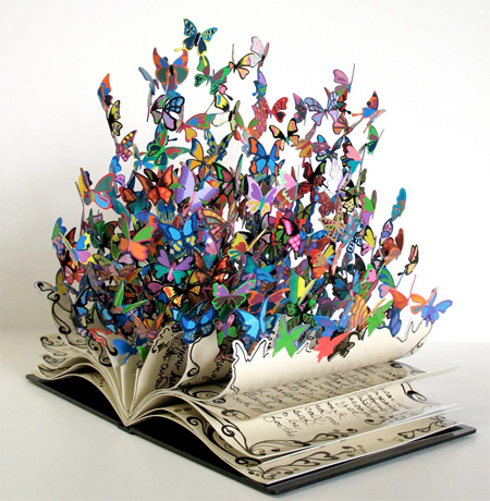 Book of Life Butterfly Sculpture