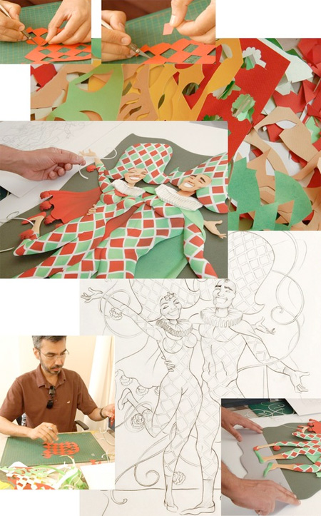 Paper Illustrations by Carlos Meira