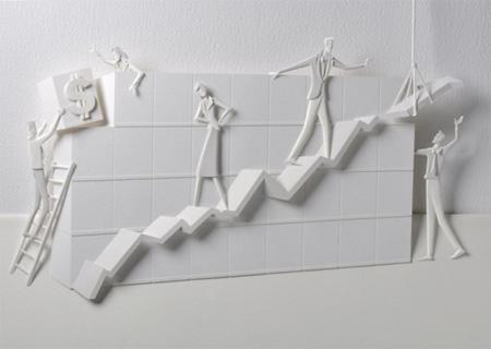 Carlos Meira Paper Sculptures