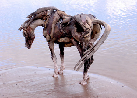 Perfect Driftwood Horse Sculptures JQ82