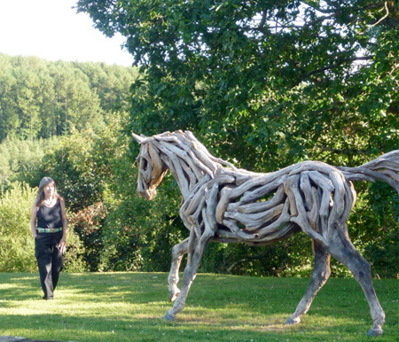 Used Tire Places >> Driftwood Horse Sculptures