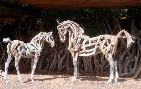 Horses Made of Driftwood