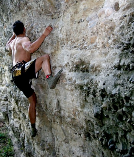 Rock Climbing in Socks