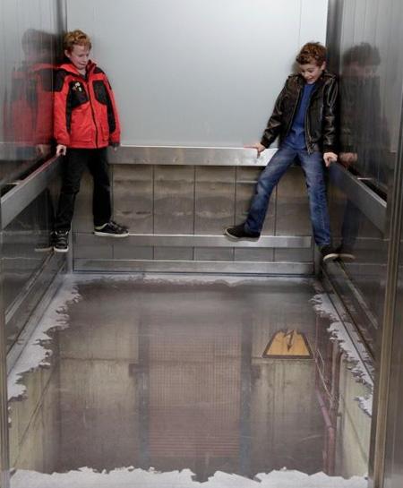 Elevator Optical Illusion