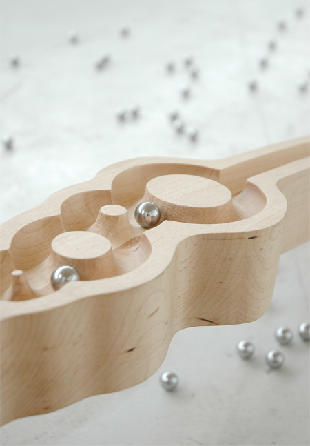 Table with Marble Track