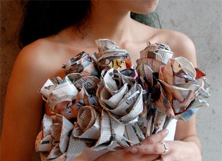 Newspaper Roses