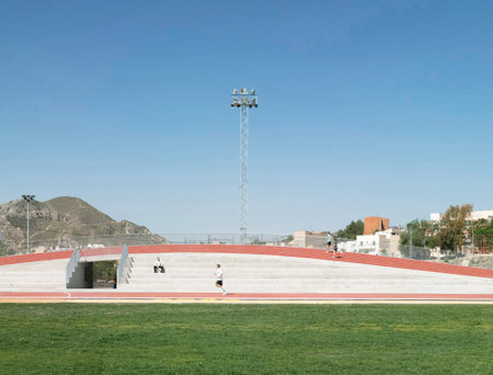 3D Track and Field Stadium