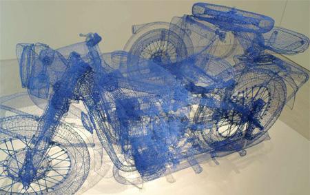 Shi Jindian Wire Motorcycle