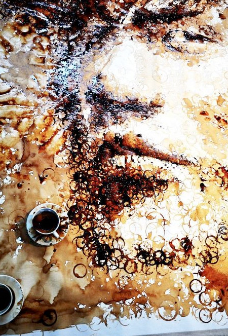 Jay Chou Coffee Stain Portrait