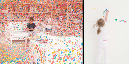Room Covered with Stickers